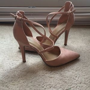 Pale Pink Strappy Heels